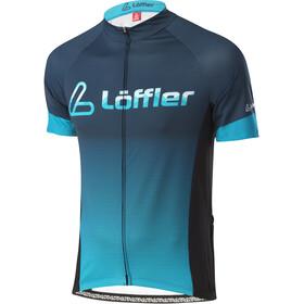 Löffler Messenger Mid Full-Zip Bike Jersey Men, deep water